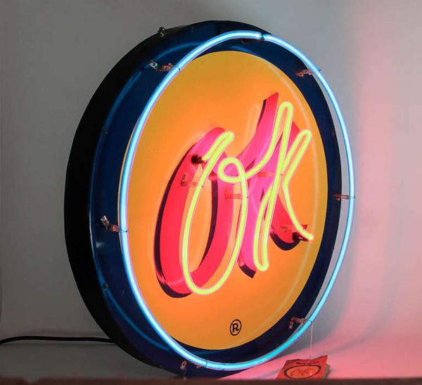 historical design i american art deco neon chevrolet ok sign. Black Bedroom Furniture Sets. Home Design Ideas