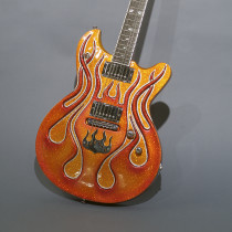 Stephen McSwain Flames Guitar