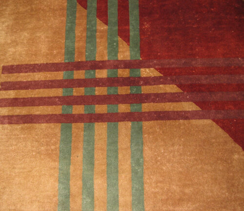 Historical Design Rugs - Red and Green Stripes