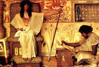 http://historicaldesign.com/wp-content/uploads/2015/09/7-Joseph_Overseer_of_the_Pharaohs_Granaries_by_Sir_L_Alma-Tadema_med-copy.jpg
