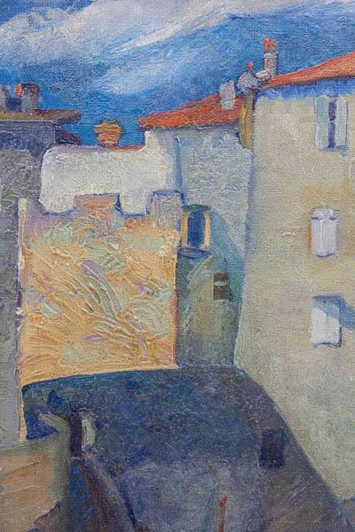 Joseph Raskin Seaside Scene Oil On Canvas C 1920 1925